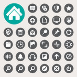 Computer menu icons set Stock Images