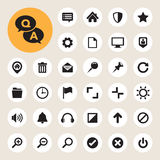 Computer menu icons set Royalty Free Stock Photos