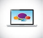 Computer message bubbles communication vector illustration