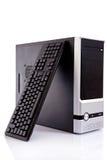 Computer met toetsenbord Stock Afbeelding