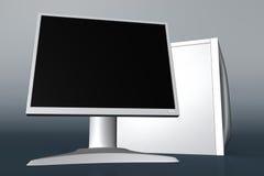 Computer met LCD monitor 02 royalty-vrije illustratie