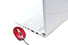 Computer met muis Stock Afbeelding