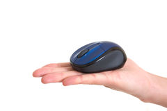 Computer mice on hand Royalty Free Stock Image