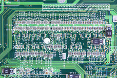 Computer micro circuit board Royalty Free Stock Photo