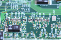 Computer micro circuit board Stock Photo
