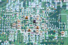 Computer micro circuit board Royalty Free Stock Images