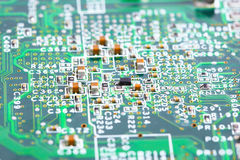 Computer micro circuit board Stock Photos