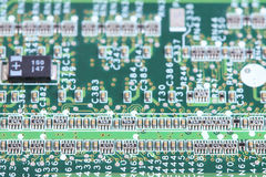 Computer micro circuit board Stock Images