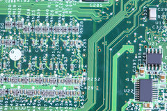 computer micro circuit board Royalty Free Stock Photo