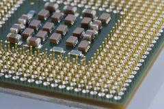 Computer micro processor. Back of a computer micro processor stock photo