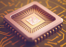 Computer Microchip Stock Photos