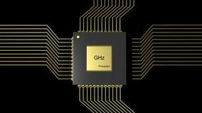 Computer microchip CPU Royalty Free Stock Photos