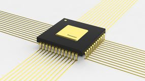 Computer microchip CPU Stock Photos