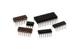 Computer Microchips Royalty Free Stock Photography