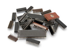 Computer microchips Royalty Free Stock Image