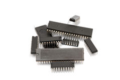 Computer microchips stock photo
