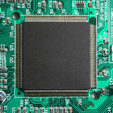 Computer microprocessor chip closeup Stock Photo