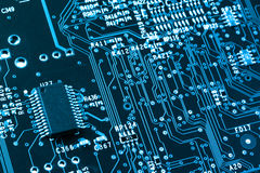 Computer circuit board closeup Royalty Free Stock Image