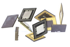Computer Microprocessors Stock Photo