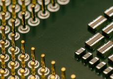 Computer microprocessors CPU. Macro. Stock Image