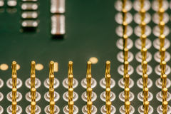 Computer microprocessors CPU. Macro. Royalty Free Stock Photography