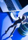 Computer mit Abbildung Lizenzfreie Stockfotografie