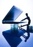 Computer mit Abbildung Lizenzfreie Stockbilder