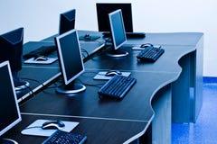 Computer mit LCD Stockfoto