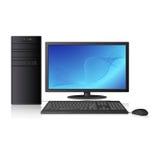 Computer mit Zusammenfassungsmuster auf dem Schirm Lizenzfreie Stockfotos