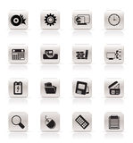 Computer, mobile phone and Internet. Vector Icon Set Royalty Free Stock Photography
