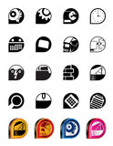 Computer, mobile phone and Internet icons Royalty Free Stock Images