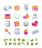 Computer, mobile phone and Internet icons. Vector Icon Set Stock Photography
