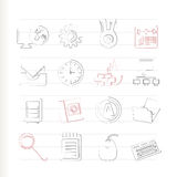 Computer, mobile phone and Internet icons. Vector Icon Set Stock Photos