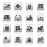 Computer, mobile phone and Internet icons. Vector Icon Set Royalty Free Stock Photo