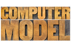 Computer model typography Royalty Free Stock Photos