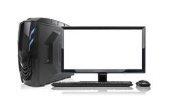 Computer moderno di desktop pc isolato Fotografia Stock