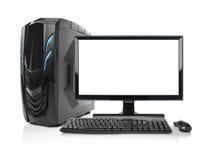 Computer moderno di desktop pc isolato Immagine Stock Libera da Diritti