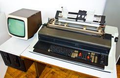 Computer molto vecchio fotografia stock