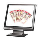 Computer money stock image