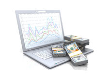 Computer and money Stock Images