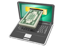Computer money Royalty Free Stock Photo