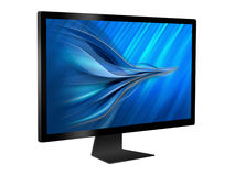 Computer monitor. Isolated on white background Stock Photo