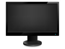 Computer monitor. Black computer monitor. Vector illustration Stock Images