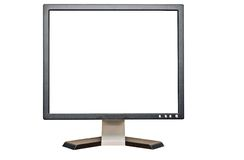 Computer Monitor. With blank screen for copy space Stock Images