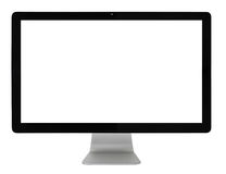 Computer monitor. Isolated on white with clipping path royalty free stock photos
