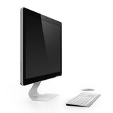 Computer monitor. With black screen  on white background Royalty Free Stock Photos