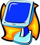 Computer monitor. Illustration Stock Images