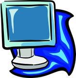 Computer monitor. Illustration Stock Photos