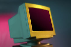 Computer Monitor. A cathode ray tube computer monitor Stock Images
