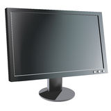 Computer monitor. Realistic vector illustration royalty free illustration